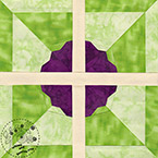 Pinwheel Flower Quilt Pattern - Pride And Prejudice Quilt Pattern