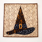 18 Inch Halloween Witch Hat Quilt Pattern