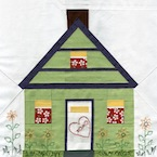 House Paper Piecing Quilt Block Pattern