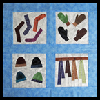 Mini Quilt - Winter Accessories Quilt Pattern - Socks, Gloves, Hats and Scarves