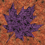 Fall Maple Leaf Quilt Block Pattern