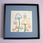 Reading Bookworm Embroidery Pattern