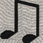 Music Notes Free Paper Piecing Quilt Block Pattern