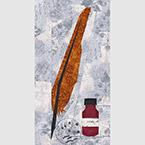 Quill And Ink Bottle Artist Make Art Quilt Pattern