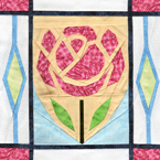 English Rose Quilt Pattern