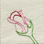 Rosebud Rose Embroidery Pattern