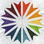 Starlight Converging - Paper Piecing Rainbow Pattern