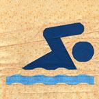 Summer Swim Quilt Block Pattern