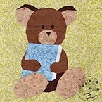 Story Book Teddy Bear Quilt Block Pattern