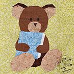 Story Book Teddy Bear Quilt Block Pattern