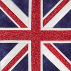 The Union Jack Free Paper Piecing Quilt Block Pattern