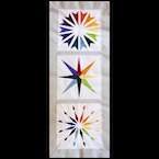Rainbow Star Quilt Pattern Set