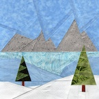 Winter Landscape Meadow Quilt Pattern