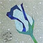 Blue Winter Rose Quilt Block Pattern
