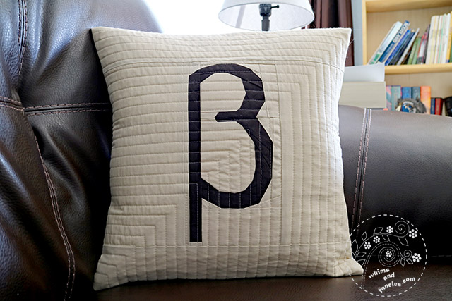 Greek Letters Quilt Pattern Quilted Pillow | Whims And Fancies