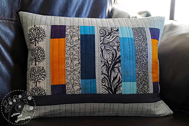 Scrappy Quilted Pillow | Whims And Fancies