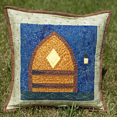 Fairy Door Quilted Pillow