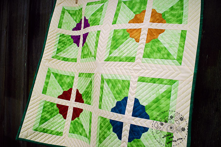 Pinwheel Flower Quilt Pattern | Whims And Fancies
