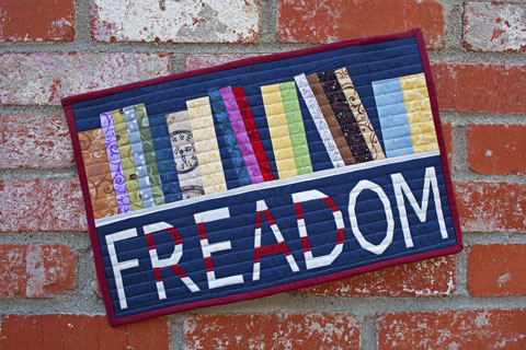 Freedom - Bookshelf Reading Quilt Pattern | Whims And Fancies