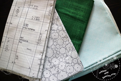 Fabrics For Gradient Quilt | Whims And Fancies