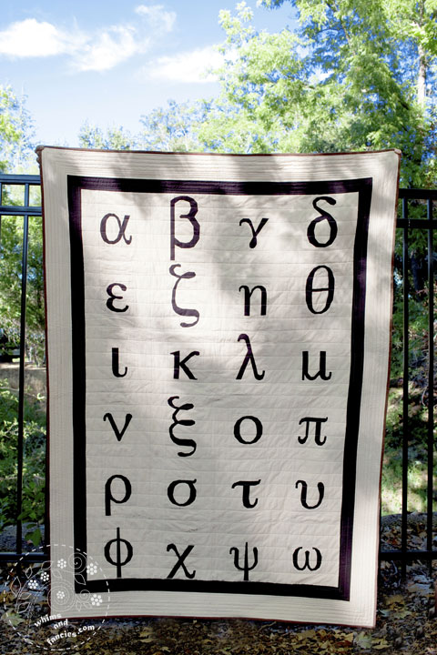 Greek Letters Quilt Patterns | Whims And Fancies