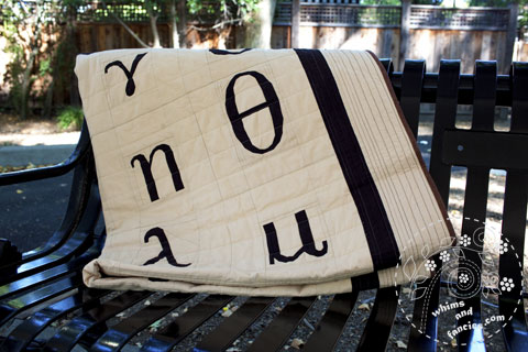 Greek Alphabet Quilt Pattern | Whims And Fancies