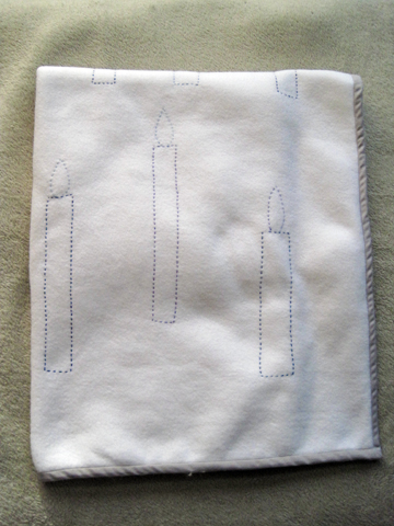 Floating Candles Embroidery Blanket