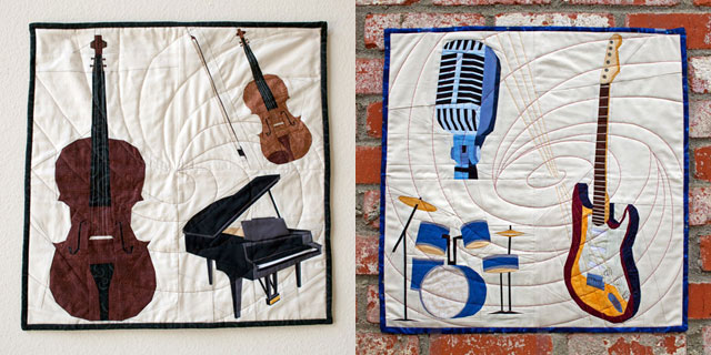 Music Instruments Quilt Patterns | Whims And Fancies