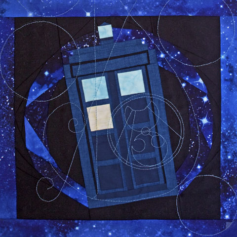 Tardis In Flight Quilt
