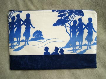 Large pouch with Nancy Drew fabric