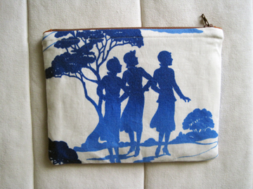 Nancy Drew Pouch With Paper Piecing