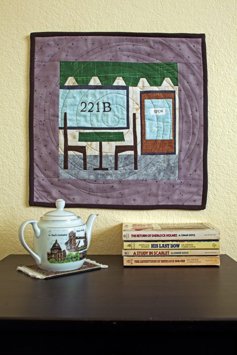 Sidewalk Cafe Quilt Mugrug or Wall Hanging Pattern | Whims And Fancies
