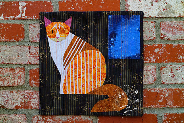 Striped Kitty Cat Quilt Pattern | Whims And Fancies