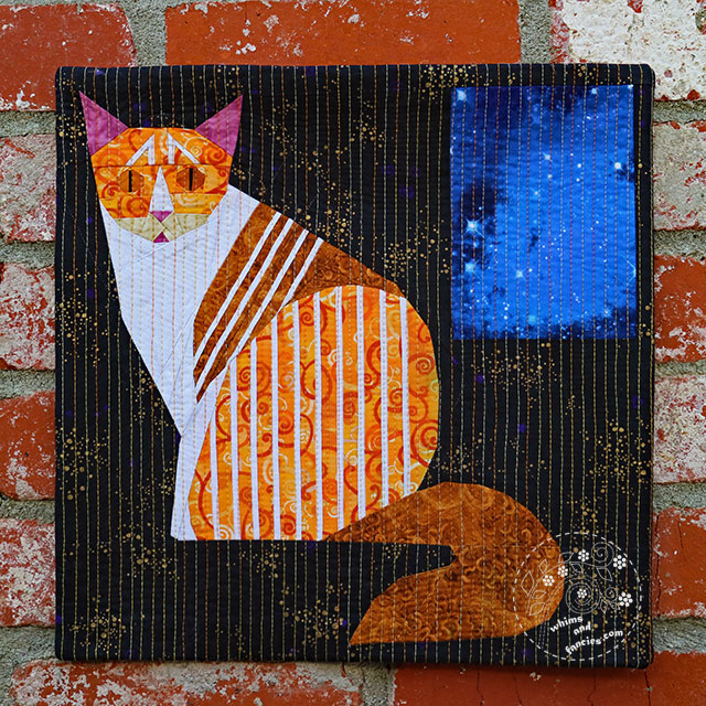 Striped Cat Quilt Pattern | Whims And Fancies