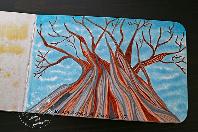 Sketchbook 2017 - Bristlecone Pine Prismacolor Marker & Copic Marker | Whims And Fancies