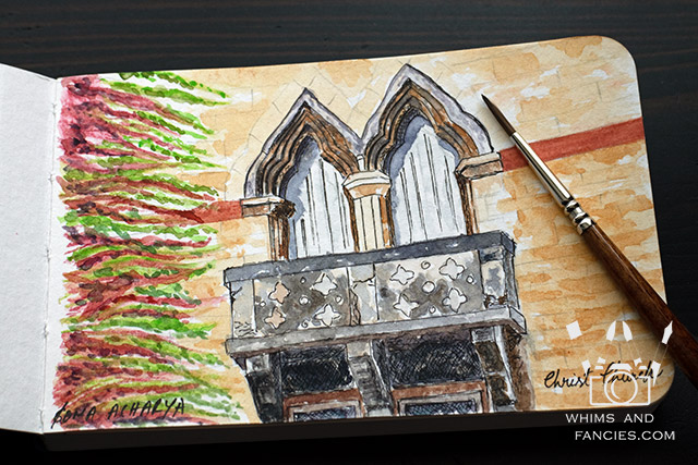 Watercolour Sketch of Christ Church, Oxford, UK | Whims And Fancies