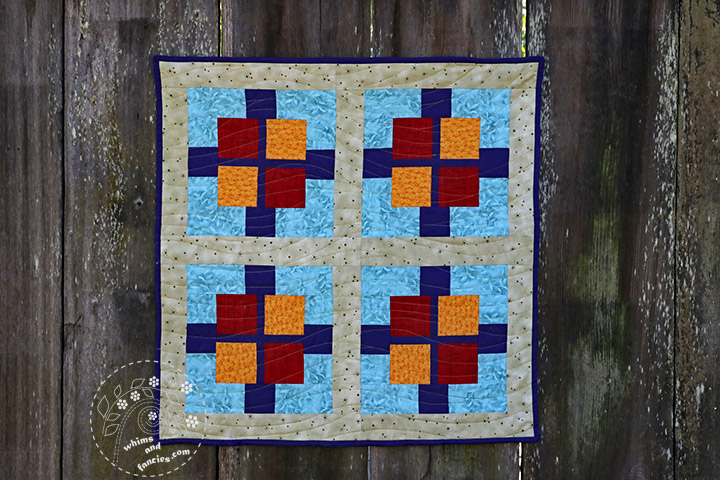 Squares Plus Quilt Pattern Whims And Fancies