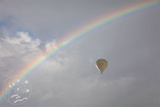 Wine Country Raibow And Hot Air Balloons | Whims And Fancies