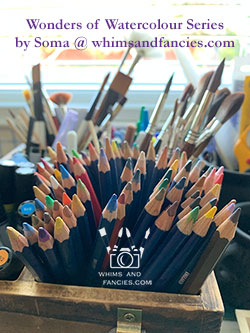 Learning to watercolor Wonders of Watercolour Series by Shop Whims And Fancies Soma Acharya
