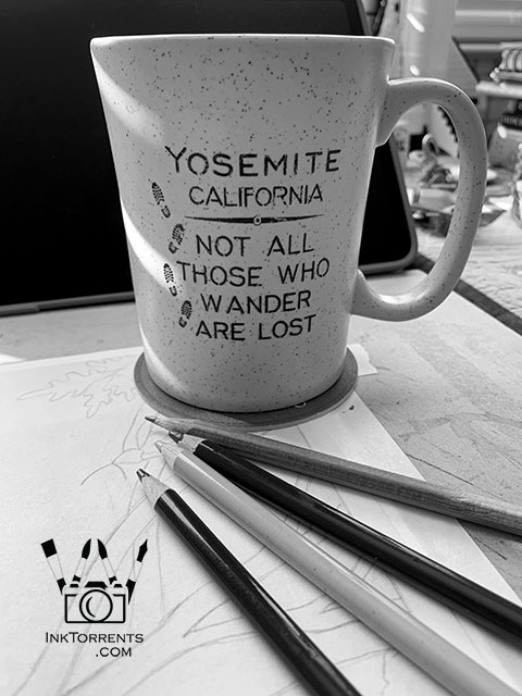 Yosemite - Simple 365 black and white photo project by InkTorrents Graphics Soma Acharya