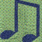 Garden Party Blog Hop – Music Notes Quilt Pattern