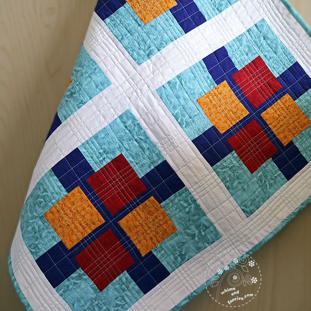 Squares Plus Quilt Remade Whims And Fancies