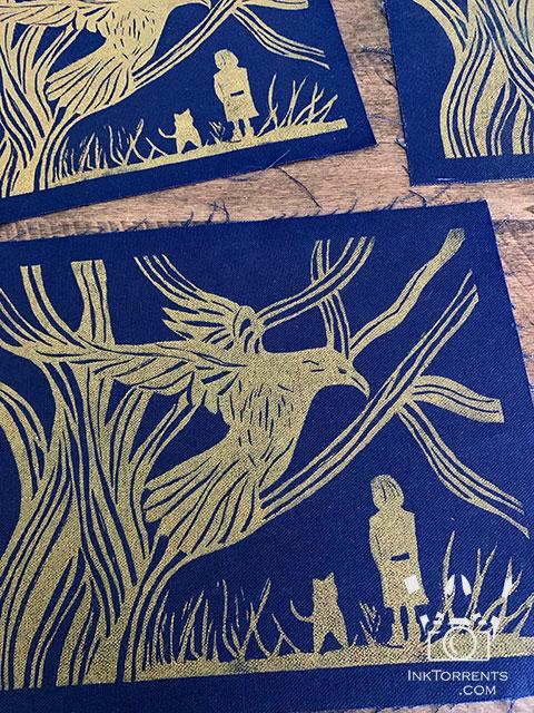 Fabric block printing @ inktorrents.com by Soma